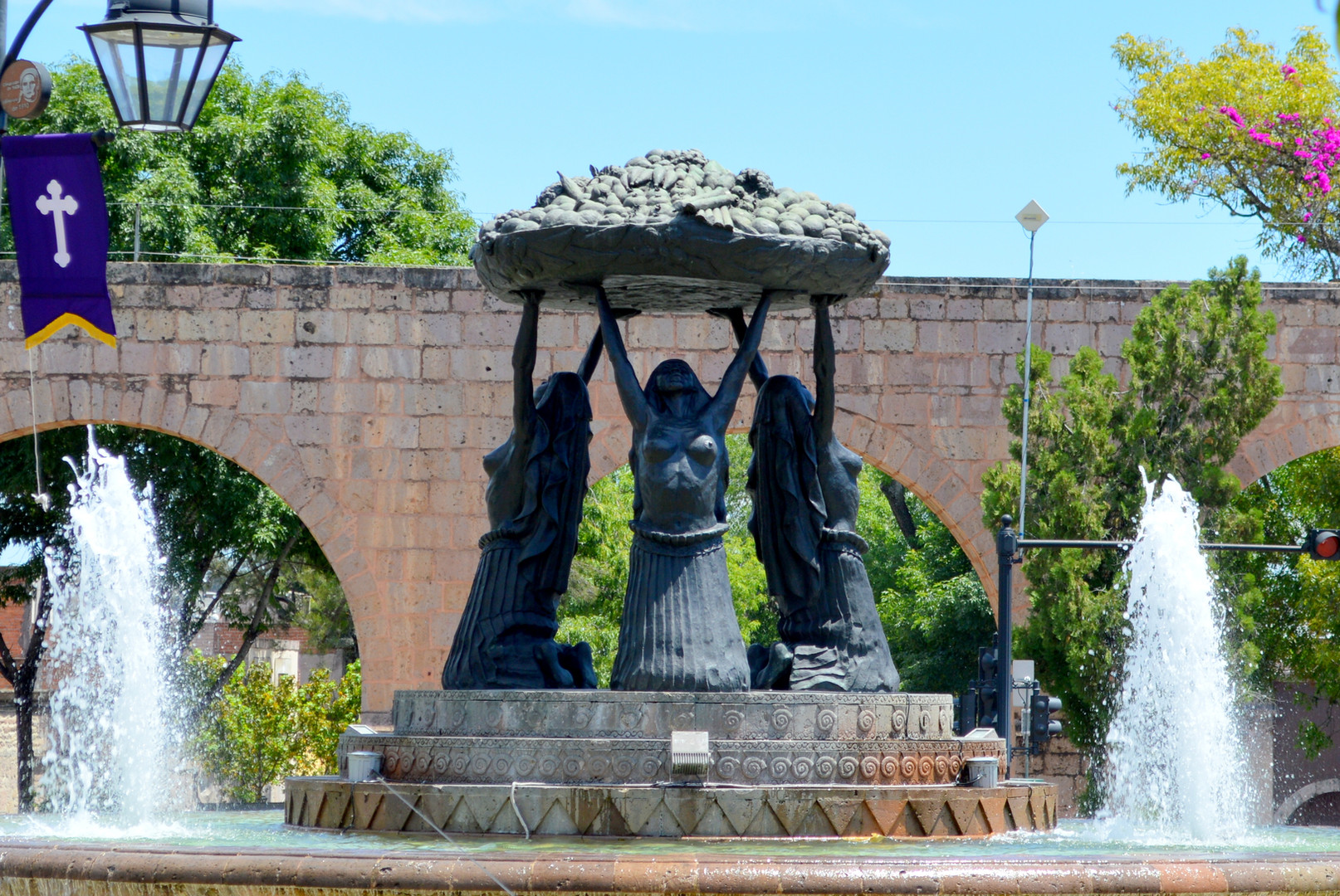 P'urepecha Fountain, Morelia Michoacan