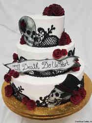 Unique 05 Til Death Do Us Part Gothic Wedding Cake