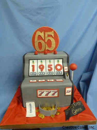 Sports 28 Slot Machine Birthday Cake