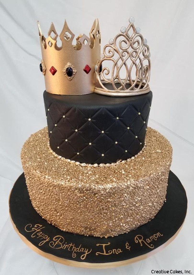 Fashion 18 King and Queen Birthday Cake