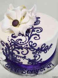 Other 04 Elegant Henna Piping Celebration Cake