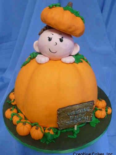 Autumn 13 Baby Pumpkin Halloween Cake