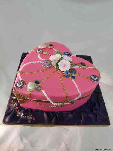 Feminine 42 Jewelry Box Birthday Cake