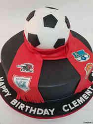 Sports 57 Football Club Scarf Birthday Cake