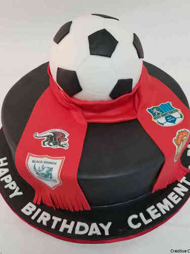 Sports 57 Football Club Scarf Birthday Cake