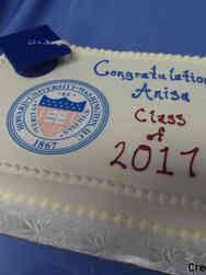 College 22 University Logo College Graduation Cake