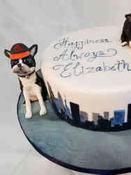 Unique 05 3D Boston Terriers Baltimore, Maryland Bridal Shower Cake