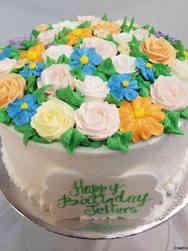 Floral 23 Buttercream Garden Birthday Cake