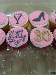 Adult 21 Pink Celebration Birthday Cupcakes
