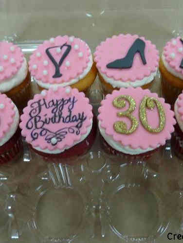 Adult 21 Pink Celebration Birthday Cupcakes