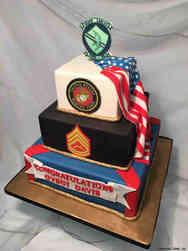 Military 25 Marine Corps Dress Uniform Military Promotion Cake