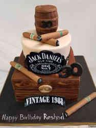 Food 07 Jack Daniel's and Cigars Birthday Cake