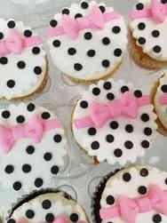 Kids 37 Bows and Polka Dots Cupcakes