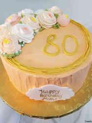 Floral 47 Buttercream Ranunculus Birthday Cake