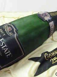 Corporate 17 3D Champagne Bottle Anniversary Celebration Cake
