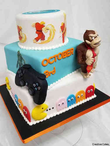 Pop 06 Video Game Birthday Cake