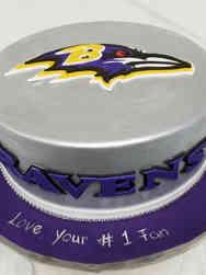 Sports 12 Baltimore Raven's Logo Birthday Cake