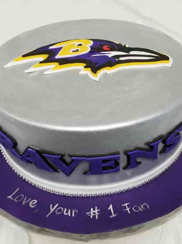 Sports 12 Baltimore Raven's Logo Birthday Cake
