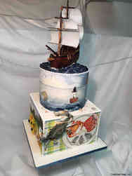 Unique 33 Hand Painted Maryland Wedding Cake