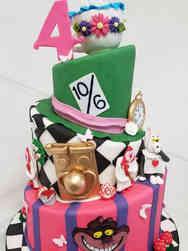 Princesses 10 Topsy Turvy Alice in Wonderland Birthday Cake
