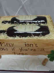 Food 18 Wine Bottle Crate Birthday Cake
