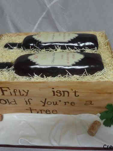 Food 18 Wine Bottle Crate Birthday Cake