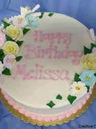 Floral 31 Pastel Sprays Birthday Cake