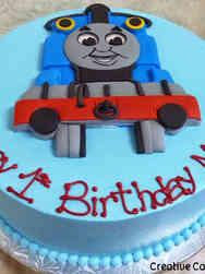Boys 01 Thomas the Tank Engine First Birthday Cake