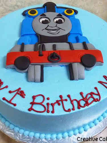 Boys 01 Thomas the Tank Engine First Birthday Cake