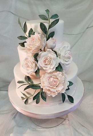 DC MD VA Custom Wedding Cake with Handcrafted Flowers