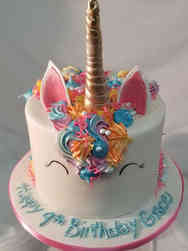 Animals 46 Wally the Unicorn Birthday Cake