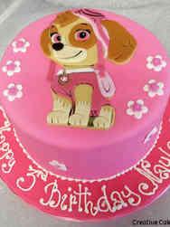 TV 02 Skye Paw Patrol Birthday Cake