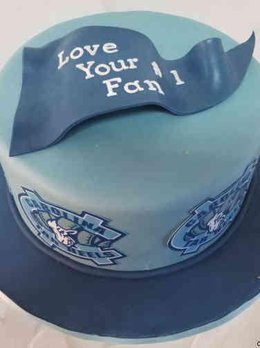Sports 39 North Carolina Tar Heels Birthday Cake