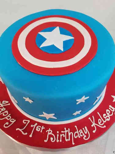 Pop 17 Captain America Birthday Cake