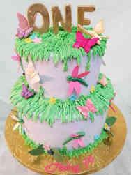 Girls 12 Garden Butterflies and Dragonflies First Birthday Cake Girls 13 Minnie Mouse Ears First Birthday Cake Girls 12 Garden Butterflies and Dragonflies First Birthday Cake
