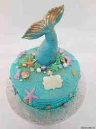 Unique 62 Mermaid Tail Birthday Cake