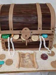 Unique 24 Pirate Treasure Chest Birthday Cake