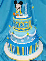 Boys 02 Mickey Mouse First Birthday Cake