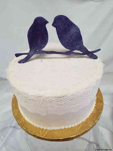 Trendy 28 Shabby Chic Lace and Lovebirds Wedding Cake