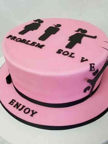 Other 05 Divorce Celebration Cake