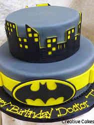 Pop 02 Batman Belt and Cityscape Birthday Cake