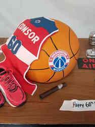 Sports 13 Washington Wizards Sportscaster Birthday Cake