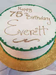 Other 06 Simple Green and Gold Birthday Cake