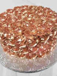 Floral 05 Rose Gold Metallic Bridal Shower Cake
