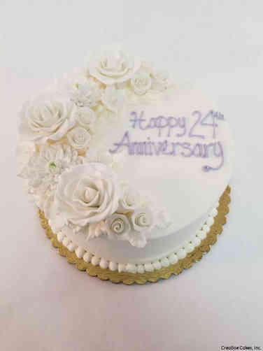 Floral 43 Champagne Roses Anniversary Cake