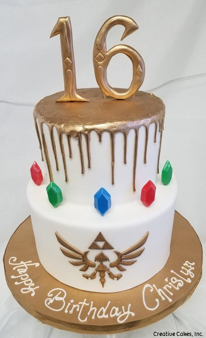 Toys 07 Legend Of Zelda Gold Drip Birthday Cake