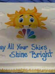 Professional 19 NBC Corporate Logo Retirement Cake