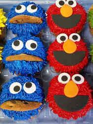 Kids 03 Sesame Street Characters Birthday Cupcakes