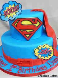 Superheroes 23 Superman Birthday Cake