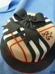 Fashion 58 Burberry Tartan Birthday Cake